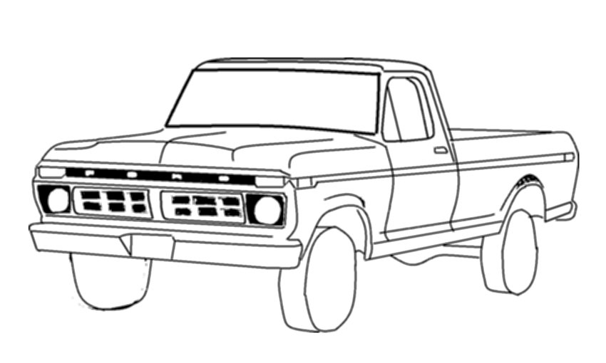 ford drawing outlines